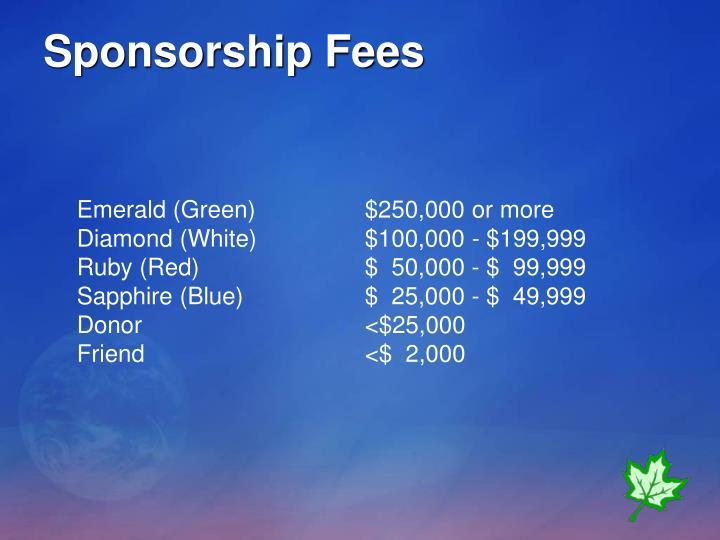 Sponsorship Fees