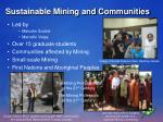 sustainable mining and communities