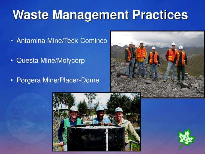 Waste Management Practices