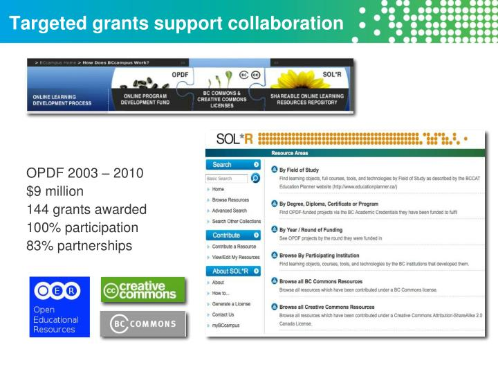 Targeted grants support collaboration