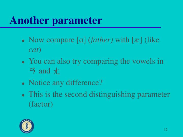 Another parameter