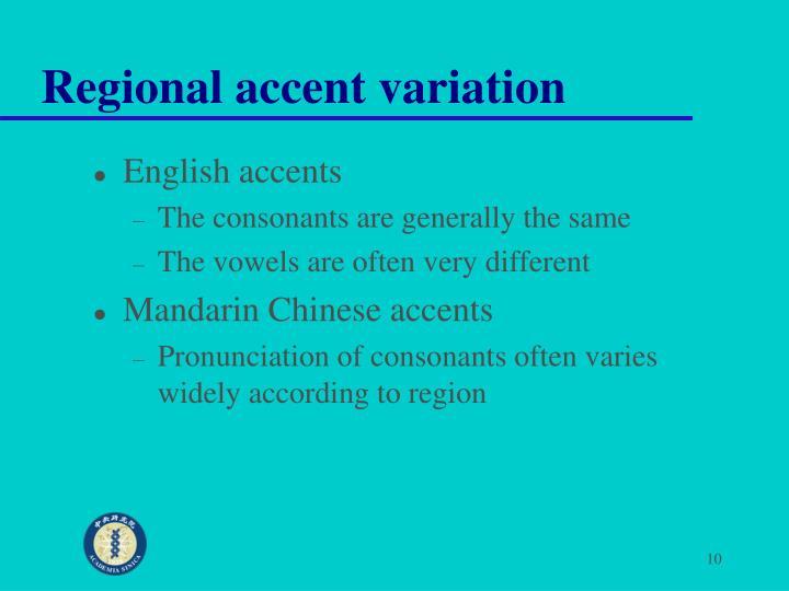 Regional accent variation
