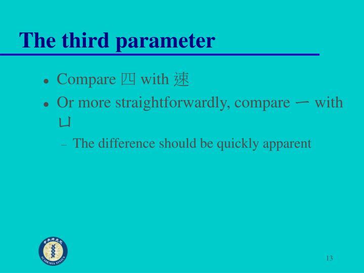 The third parameter