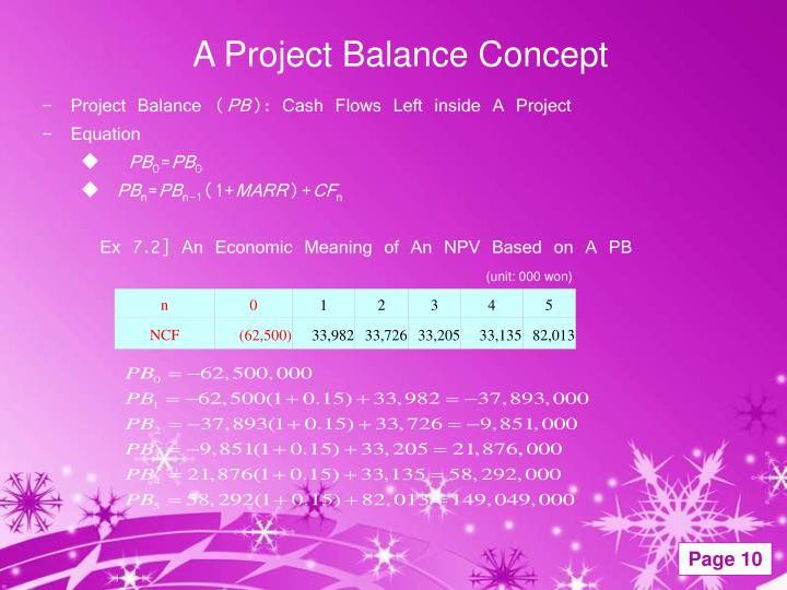 A Project Balance Concept