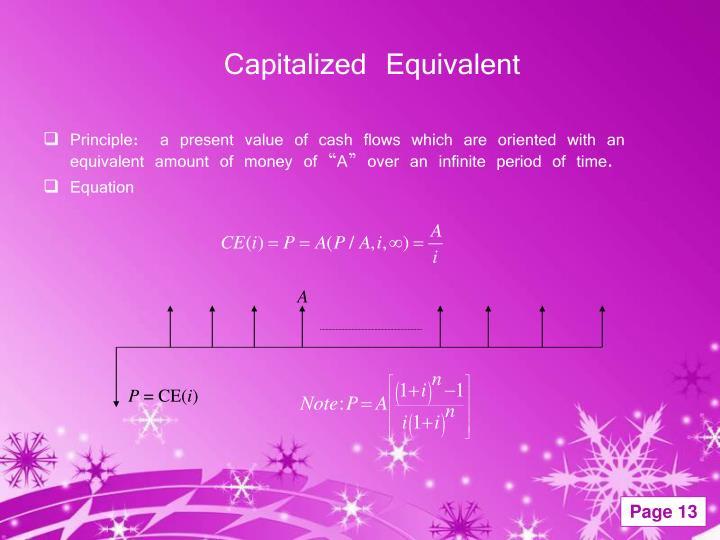 Capitalized Equivalent