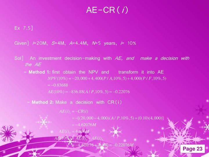 AE-CR(