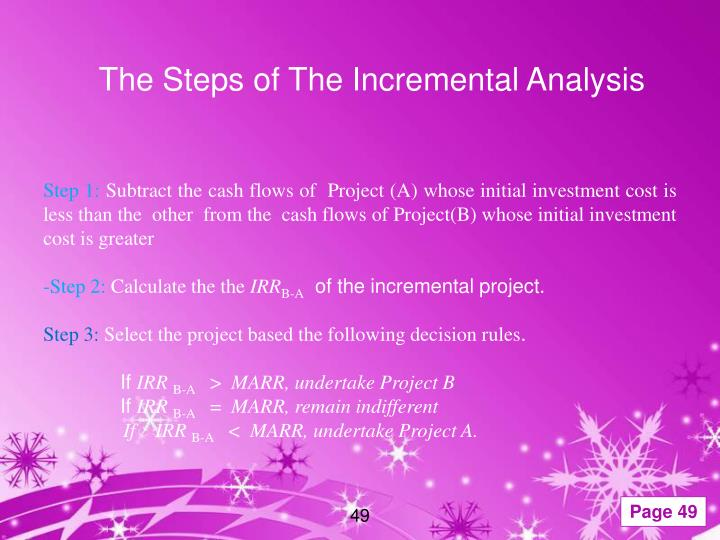 The Steps of The Incremental Analysis