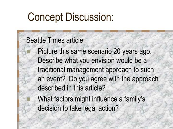 Concept Discussion: