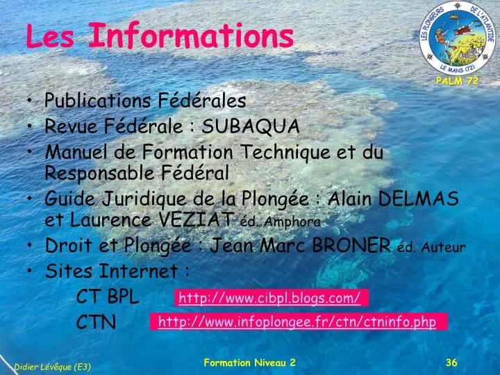 Publications Fédérales