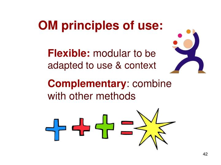 OM principles of use: