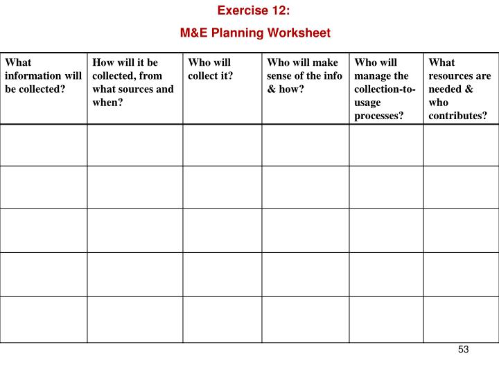 Exercise 12: