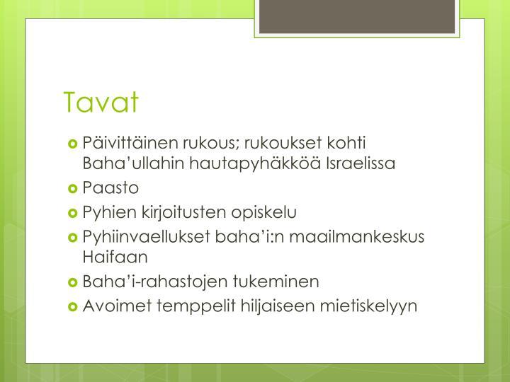 Tavat