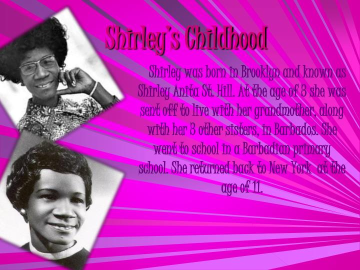 Shirley s childhood