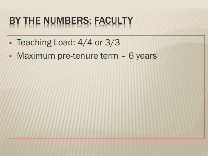 Teaching Load: 4/4 or 3/3