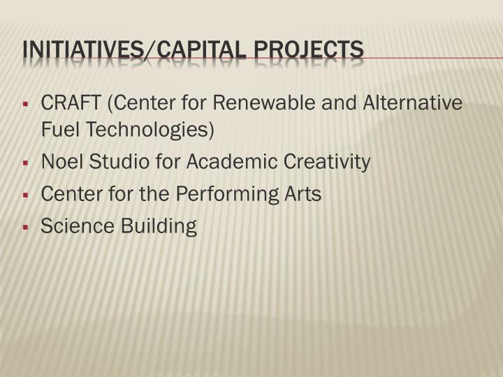 CRAFT (Center for Renewable and Alternative Fuel Technologies)