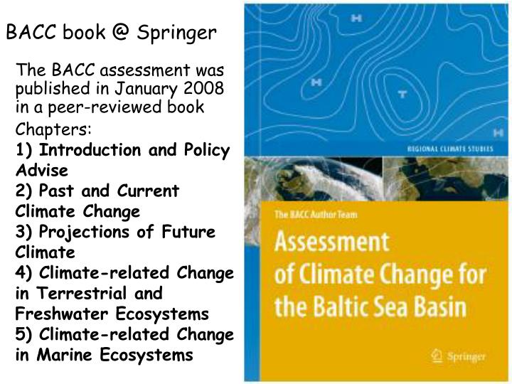 BACC book @ Springer