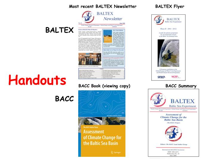 Most recent BALTEX Newsletter
