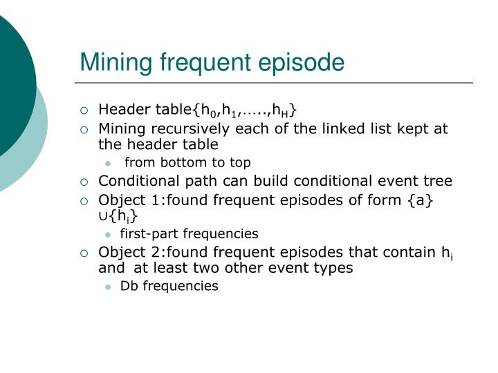 Mining frequent episode