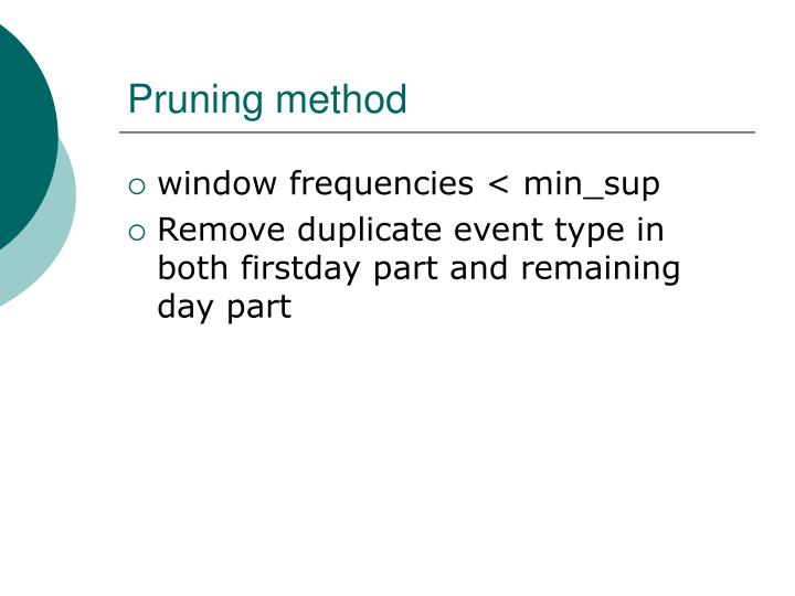 Pruning method