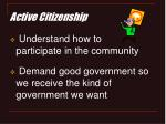 active citizenship