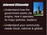informed citizenship