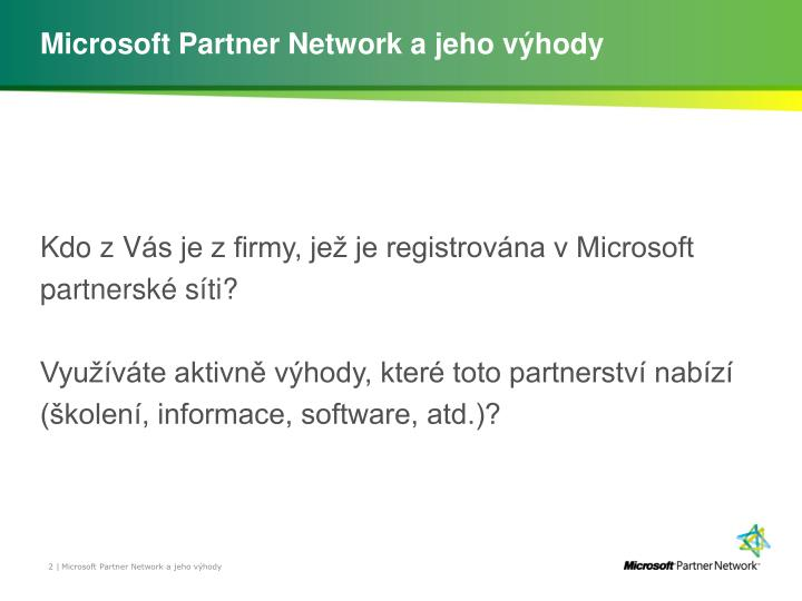 Microsoft Partner Network a