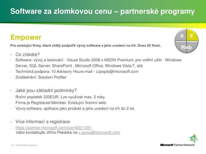 Software za zlomkovou cenu – partnerské programy