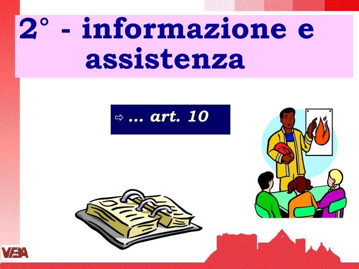 2° - informazione e       assistenza