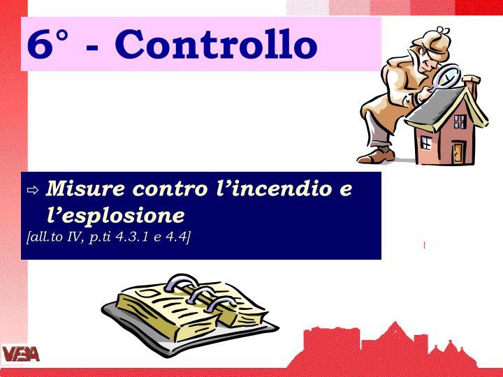 6° - Controllo