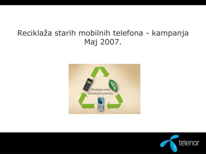 Reciklaža starih mobilnih telefona - kampanja