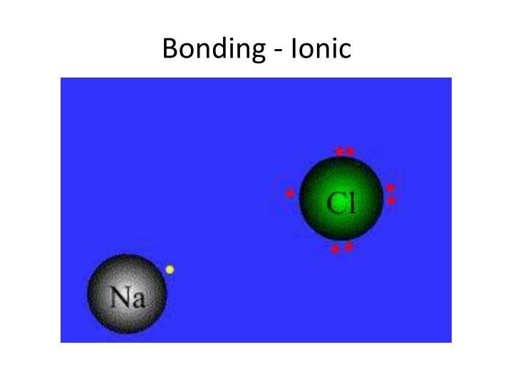 Bonding - Ionic