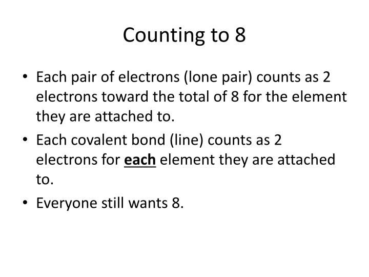 Counting to 8