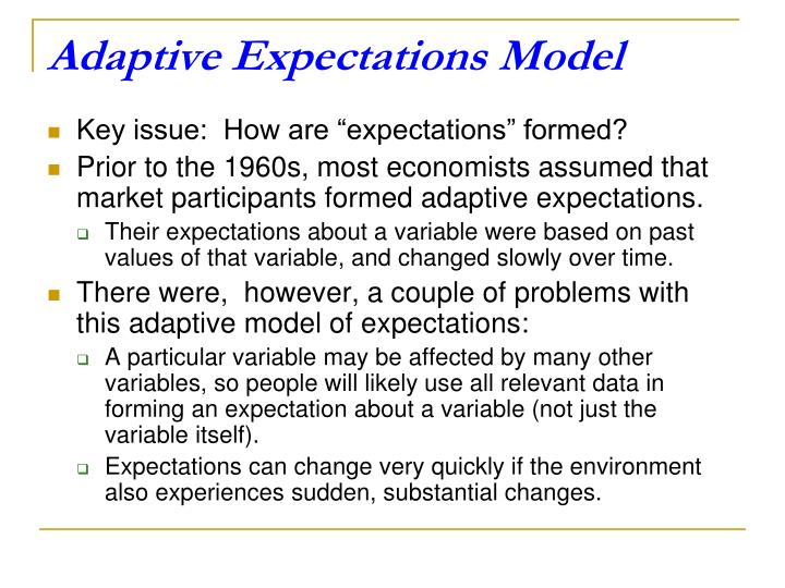 Adaptive Expectations Model