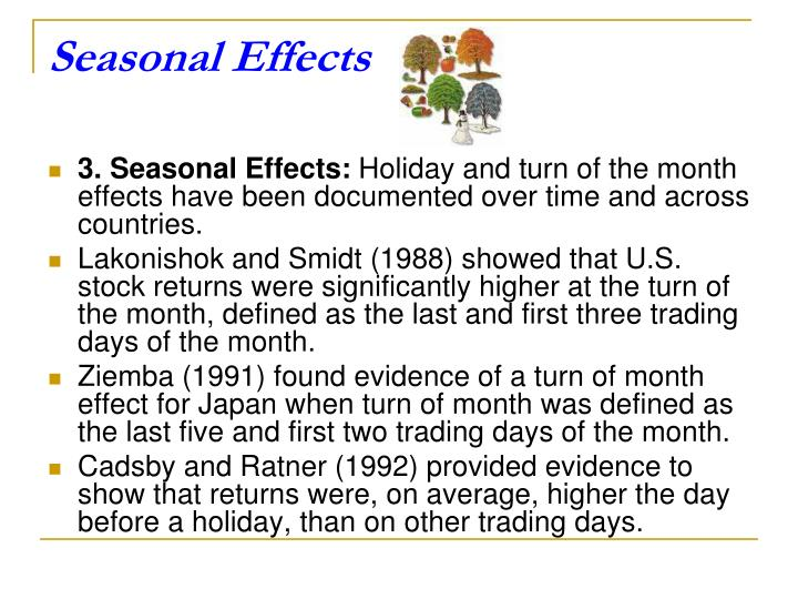 Seasonal Effects