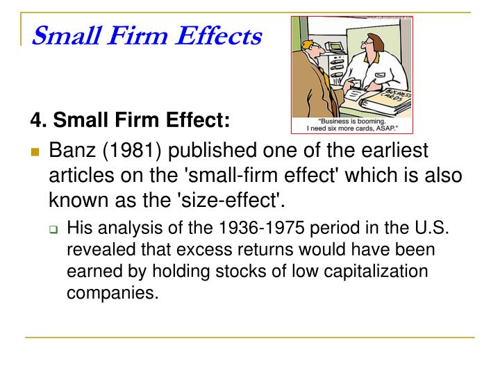 Small Firm Effects