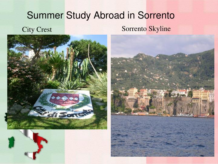 Summer study abroad in sorrento
