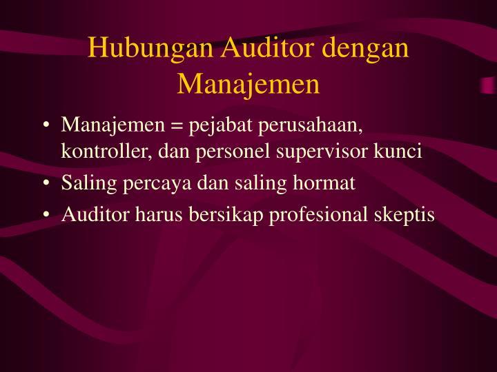 Hubungan Auditor dengan Manajemen