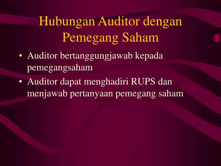 Hubungan Auditor dengan Pemegang Saham
