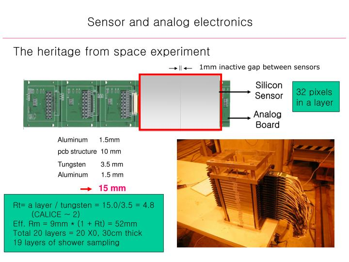 Sensor and analog electronics