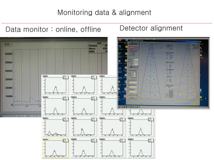 Monitoring data & alignment