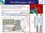 the gem project ge1 1