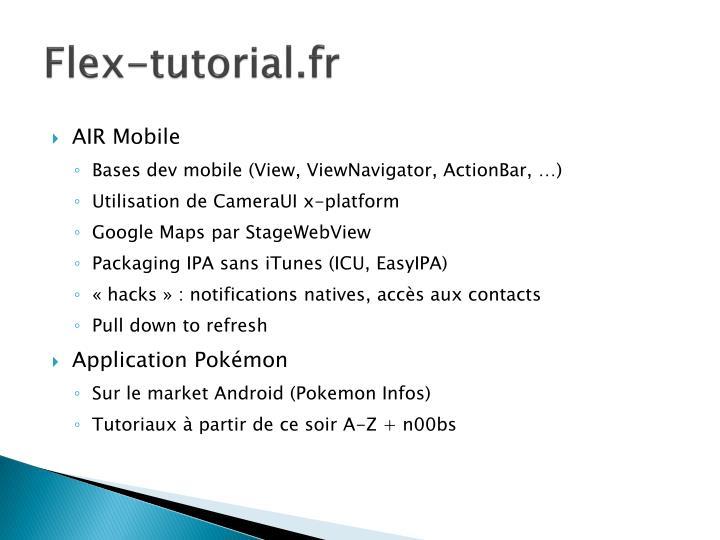 Flex-tutorial.fr
