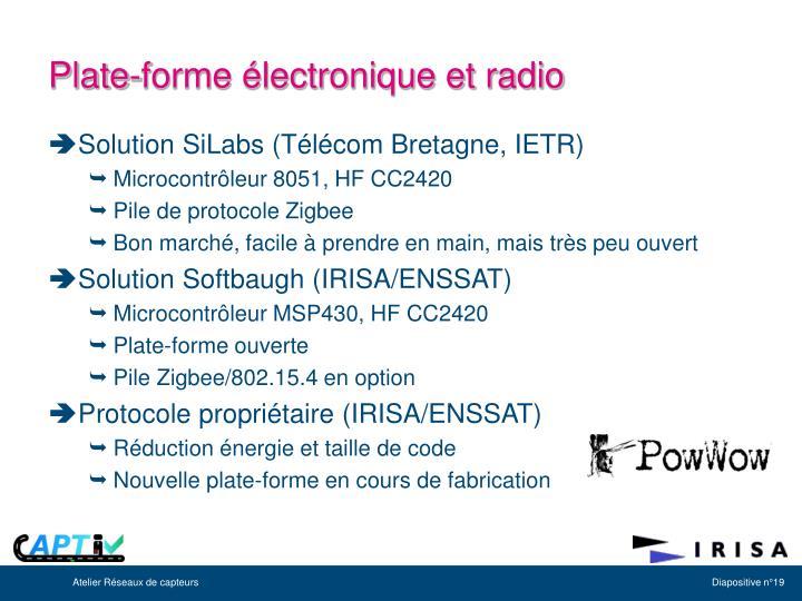 Plate-forme électronique et radio