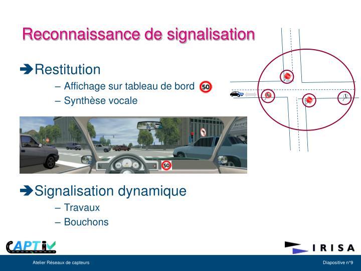 Reconnaissance de signalisation