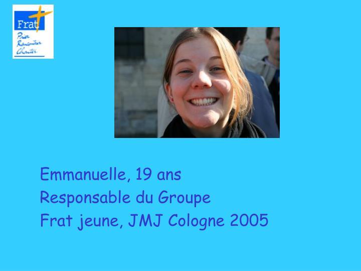 Emmanuelle, 19 ans