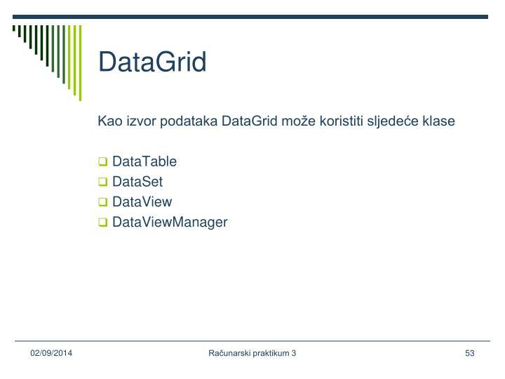 DataGrid
