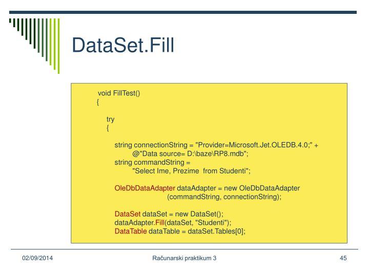 DataSet.Fill