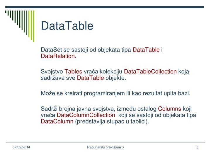 DataTable