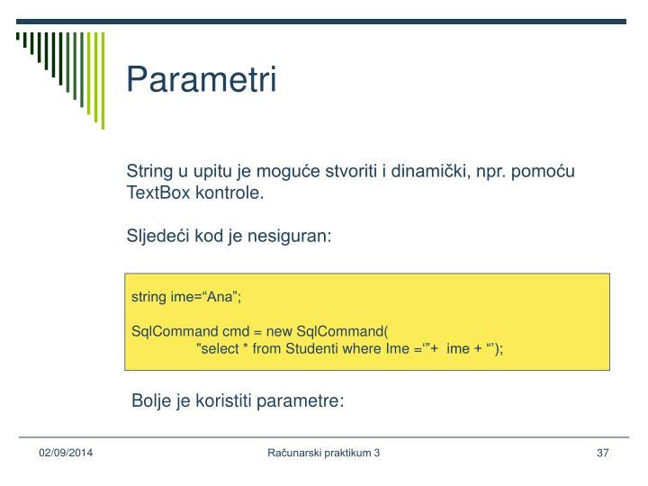 Parametri