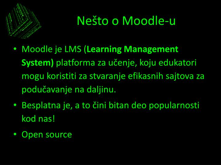 Ne to o moodle u